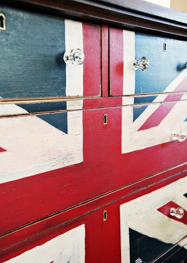 DIY dekorative Projektekommode oberfläche flagge schubladen