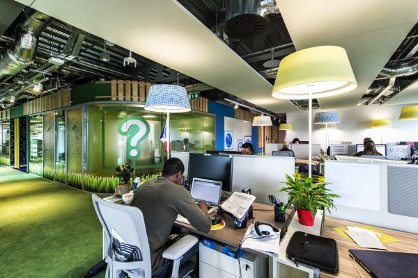 Das neue Google Campus Management büro lebhaft interior