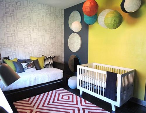 Deko Ideen fürs Gästezimmer babyzimmer dekorativ ball