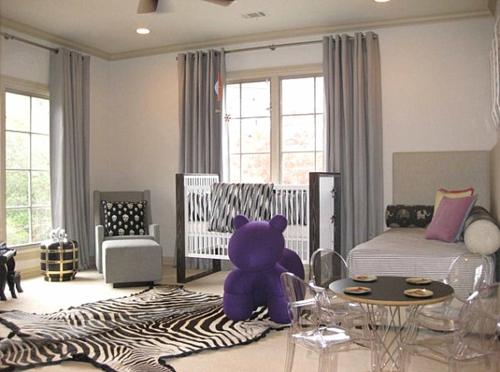 Deko Ideen fürs Gästezimmer babyzimmer schwarz weiß einrichtung