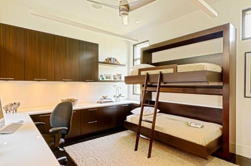 Deko Ideen fürs Gästezimmer hochbett holz gestell leiter matratzen