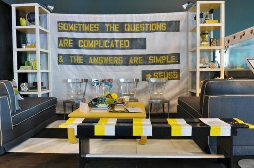 emejing wohnzimmer deko gelb images - house design ideas ... - Wohnzimmer Gelb Schwarz