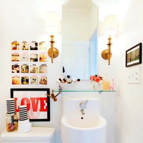 Dekoratives Klebeband blumen badezimmer weiß pur design