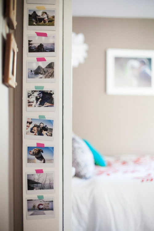 Dekoratives Klebeband blumen bunt fotos familie wand