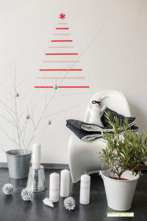 Dekoratives Klebeband weihnachten baum dekoration