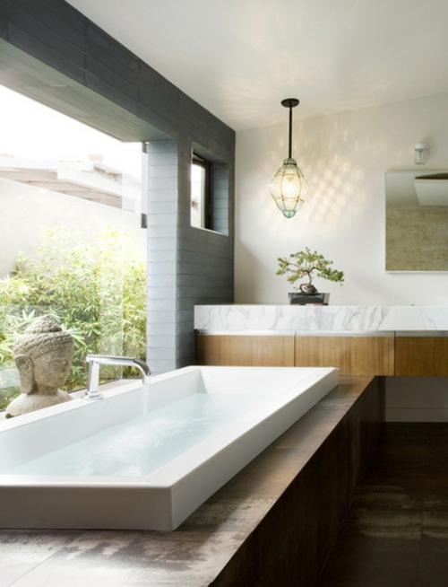 Der Bonsai Baum im Interior Design badezimmer badewanne exotisch