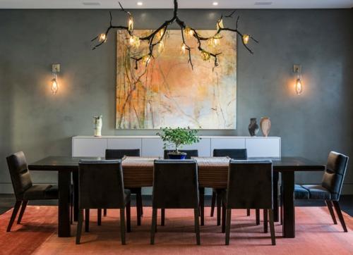 Der Bonsai Baum im Interior Design esszimmer groß tisch stühle