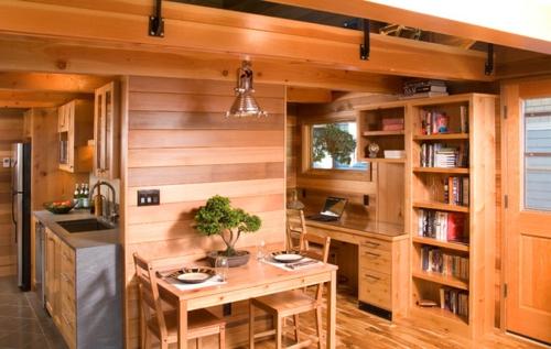 Der Bonsai Baum im Interior Design holz einrichtung essecke küche office