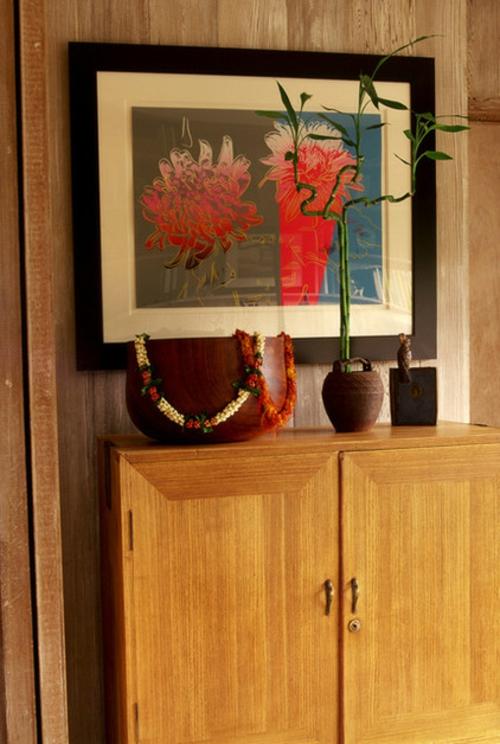 Der pflegeleichte Glücksbambus als Dekoration badezimmer kommode holz