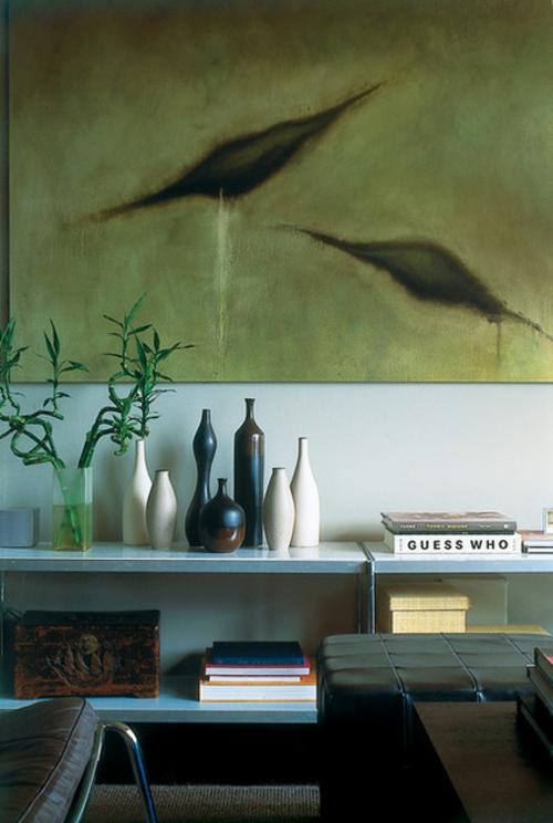 Der pflegeleichte Glücksbambus als Dekoration wandgestaltung vasen