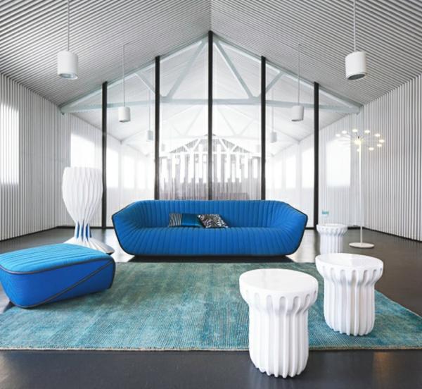 Designer Möbel Sammlung blau sofas beistelltisch  couch