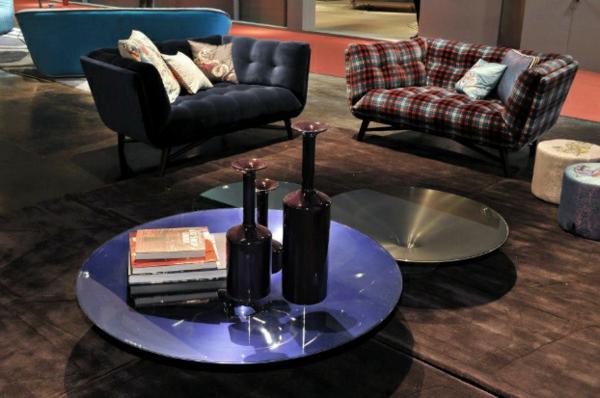 Designer Möbel Sammlung blau sofas rund platten traditionell