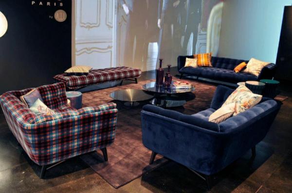 Designer Möbel kollektion sofas gestreift gepolstert sessel