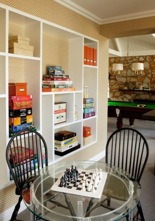 Designer Spielraum mit Billard spieltisch beleuchtung schachspiel