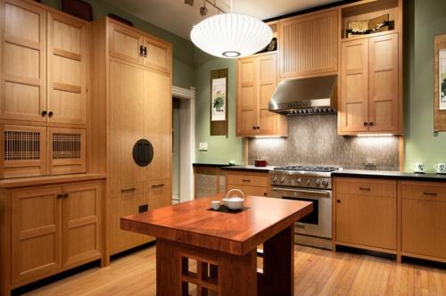 Dunstabzugshaube für die Küche insel holz einrichtung