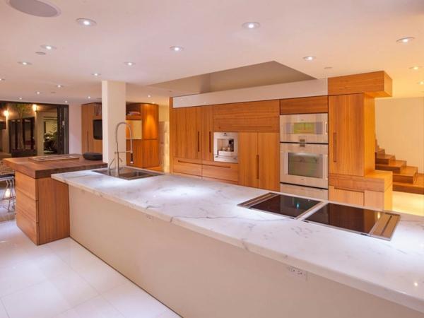 Eine herrliche Residenz marmor granit arbeitsplatte küche