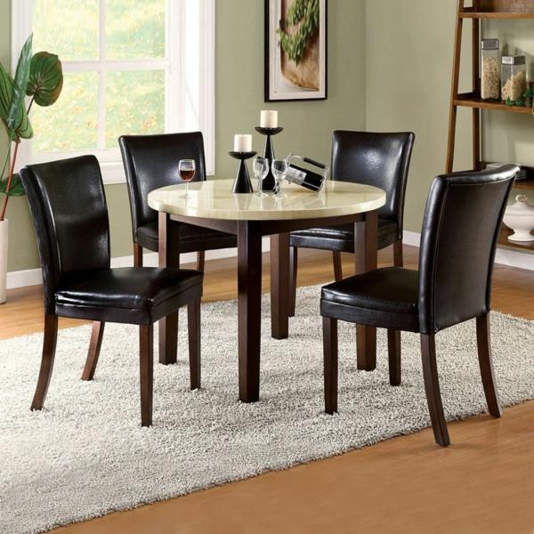 Einmaliges Esszimmer mit neuen Stühlen leder gepolstert glanzvoll