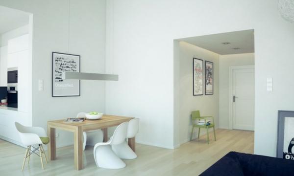 Einmaliges Esszimmer mit neuen Stühlen weiß modern design