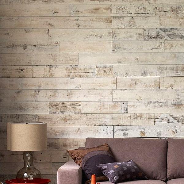 Eklektisches Interior Design sofa wandgestaltung holz
