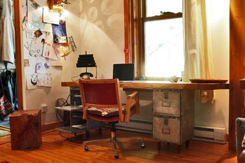 Exotik im designer haus eines künstlers arbeitsbüro tisch stuhl