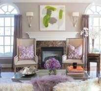 Gemütliches Wohnzimmer einrichten : große Wohnflächen gestalten