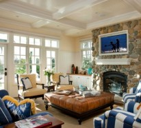 Gemütliches Wohnzimmer Einrichten : Große Wohnflächen Gestalten Wohnzimmer Grose Fensterfront