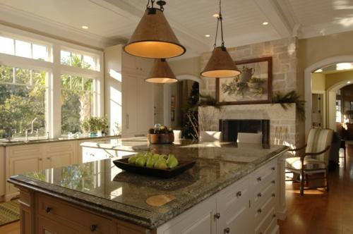 Granitplatten in hervorragenden Küchen hängelampen kücheninsel