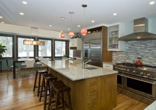 Granitplatten in hervorragenden Küchen traditionell insel barhocker seaform