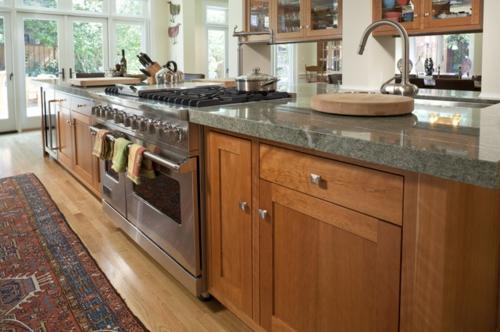 Granitplatten in hervorragenden Küchen traditionell teppich kochoffen platten