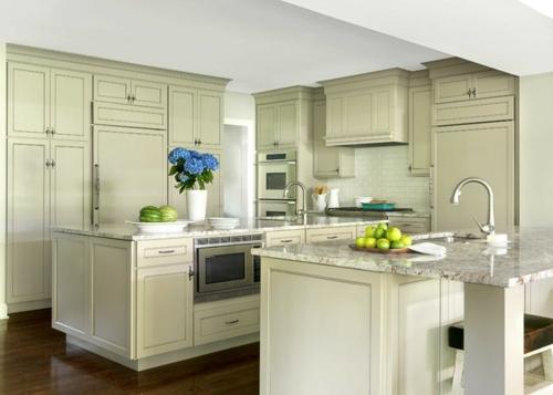 Granitplatten in hervorragenden Küchen weiß insel arbeitsplatten obst