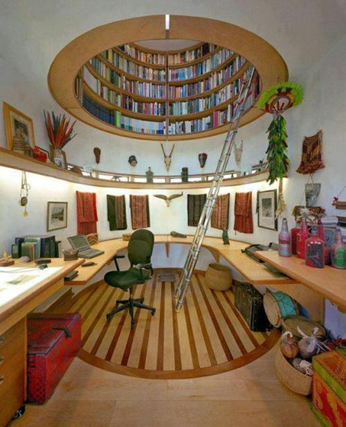 Häuser mit erstaunlichen Zimmerdecke Designs  bücherregal holz atelier