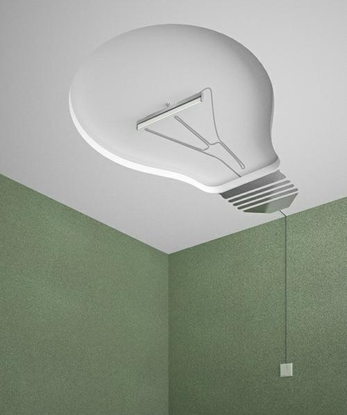 Häuser mit erstaunlichen Zimmerdecke Designs glühbirne originell