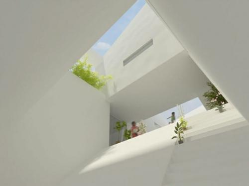 Häuser mit erstaunlichen Zimmerdecke Designs  minimalistisch dachfenster