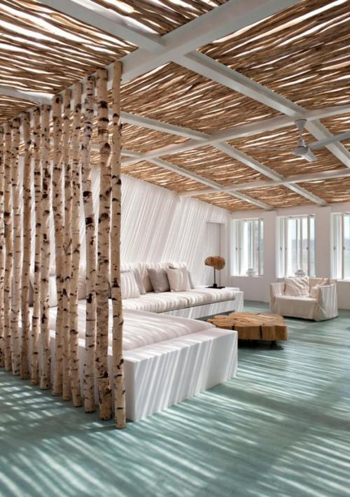Häuser mit erstaunlichen Zimmerdecke Designs  schilf wohnzimmer ecksofa