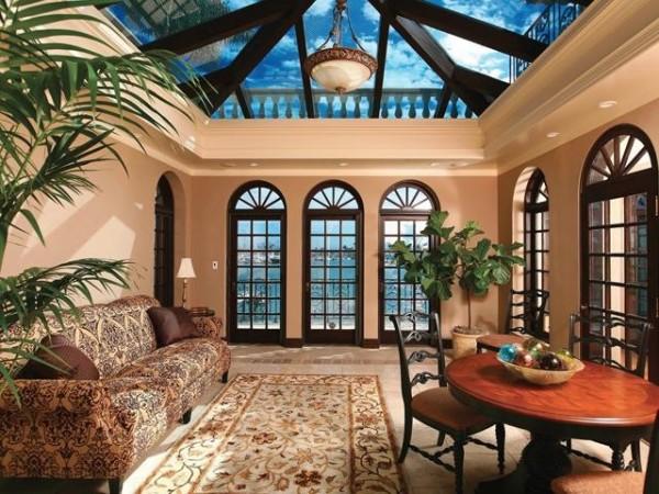 High-Tech Fensterfolien esszimmer teppich sofa pflanzen
