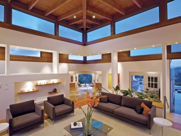 High-Tech Fensterfolien sofas sessel couchtisch glasplatte wohnbereich