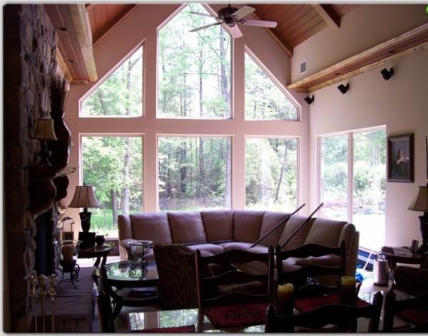 High-Tech Fensterfolien wohnzimmer ecksofa bequem klein haus