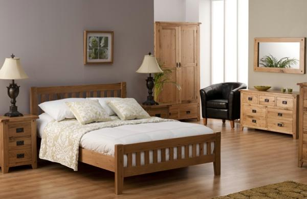 Holzmöbel ein schönes Schlafzimmer Design bett