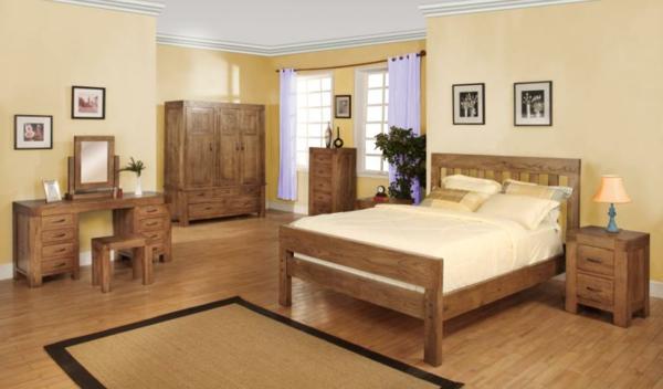 Holzmöbel ein schönes Schlafzimmer Design warme einrichtung