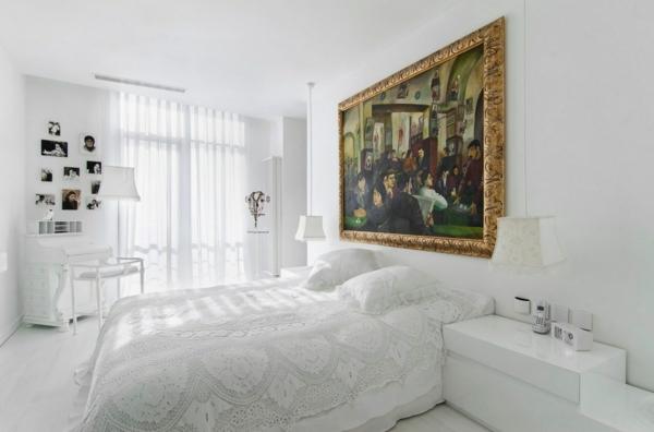 Inneneinrichtung in Weiß holz bodenbelag klassisch schlafzimmer
