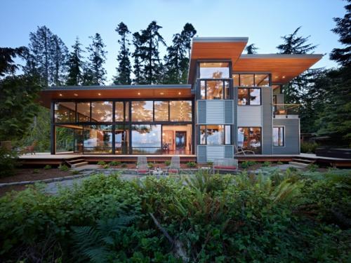 Fassade glas haus  Innovatives nachhaltiges Haus in Washington - Natur und Industrie