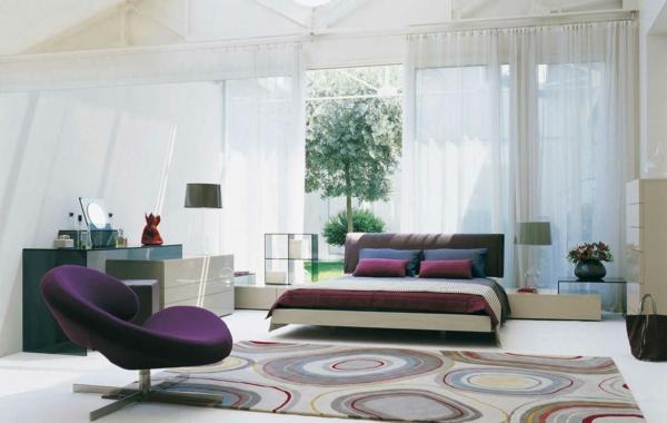 Interior Design im französischen Stil doppelbett kopfteil gepolstert