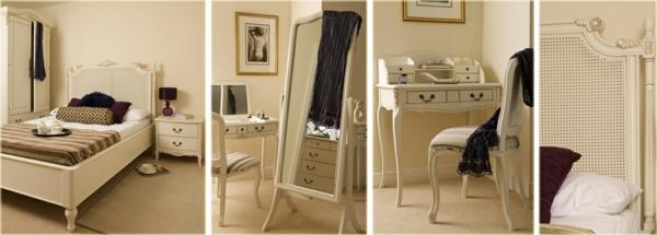 Interior Design im französischen Stil schlafzimmer möbel holz