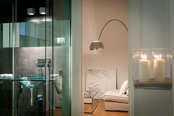 Klassische Architektur und modernes Hotel Design bogenlampe