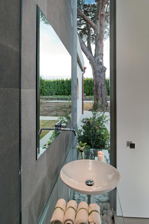 Klassische Architektur und modernes Hotel Design waschbecken keramisch