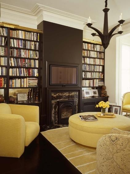 Kombination von Interieur Stilen bücherregale hausbibliothek