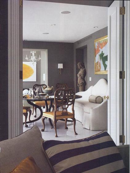 Kombination von Interieur Stilen esszimmer sofa weiß klassisch