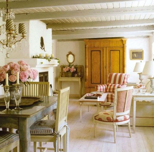 Kombination von Interieur Stilen gemütlich esszimmer rustikal