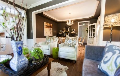 Kombination von Interieur Stilen gemütlich wohnzimmer