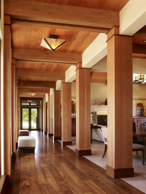 Komponente der Renovierung zu Hause holz platten säulen zimmerdecke